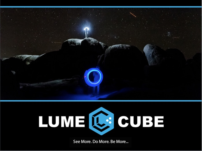 """The Lume Cube is a revolutionary little light. 1,500 Lumens Powerful in a 1.5""""cube. Works with iPhone, Android and GoPro or any Camera"""