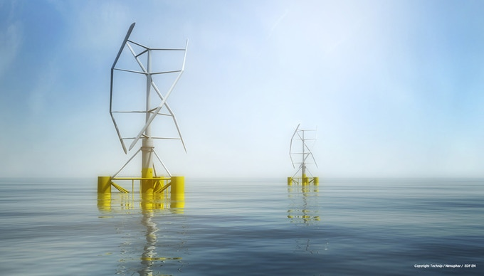 VERTIWIND project by Technip / Nenuphar / EDF EN