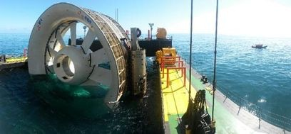 Tidal turbine by DCNS and Openhydro