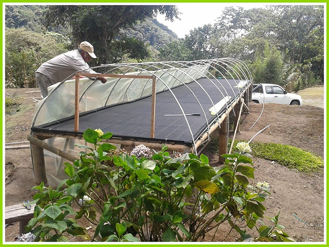 This is a solar drying bed under construction but more are needed to handle increasing production.