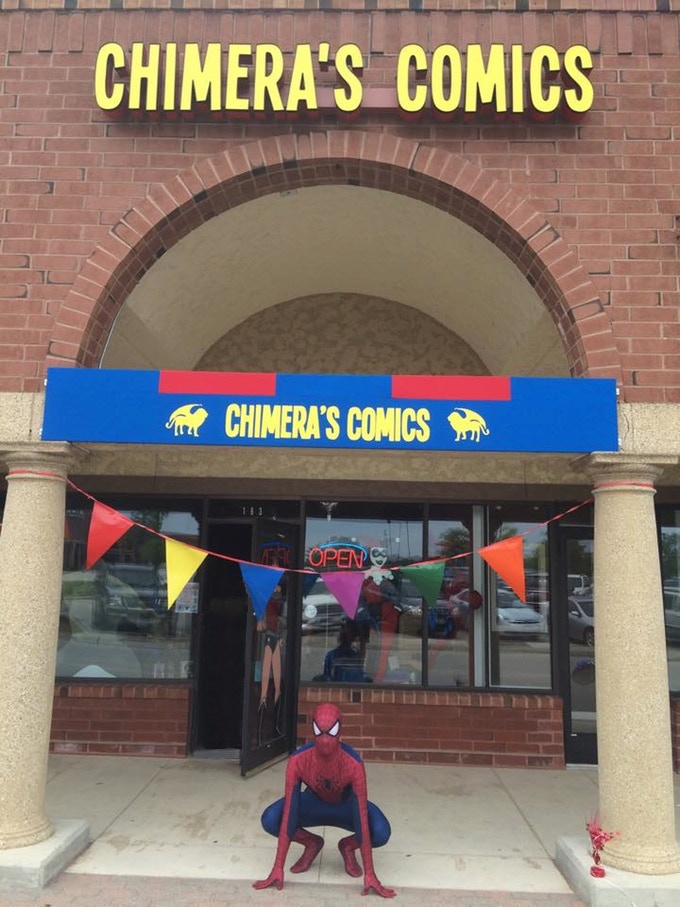 Chimera's Comics Third Location in Woodridge