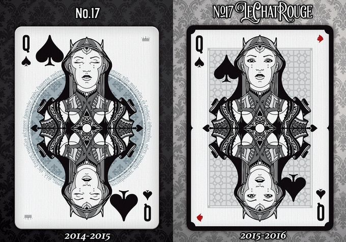 In this case the face of the Queen Of Spades has been modified