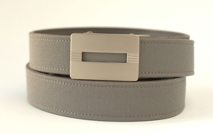 Malibu Silver Buckle with Charcoal Belt