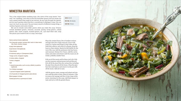 Minestra maritata, the original Italian wedding soup, made with venison shoulder.