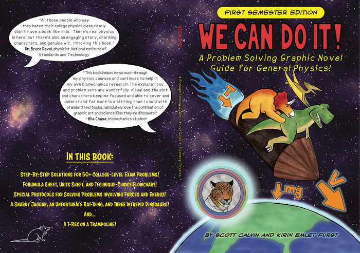 Dinosaurs try to learn physics to save their world while helping readers with college-level general physics problems!