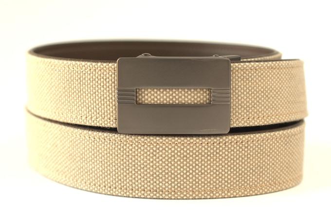 Malibu Gunmetal Buckle with Light Khaki Belt