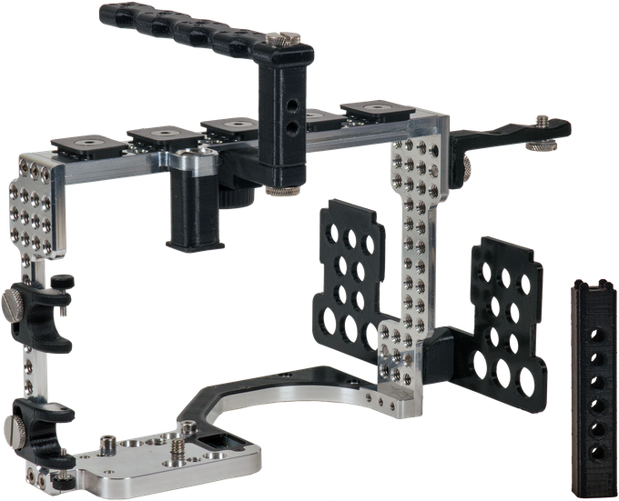 """Our TrueGrip Pro Kit - one of the three kit options available (see bottom of page).  Final design will have additional 3/8"""" holes, larger entry for top handle installation, and smoother/rounder edges."""