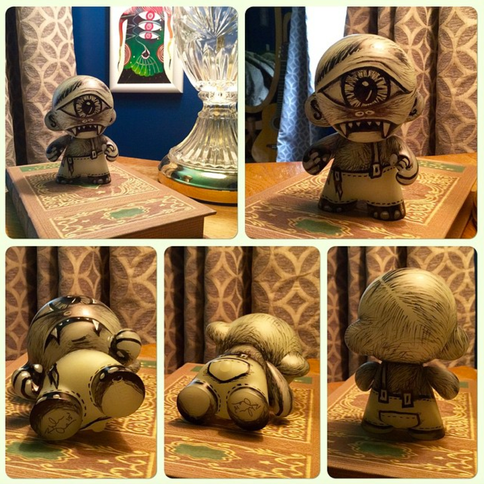 Finished glow in the dark Munny.