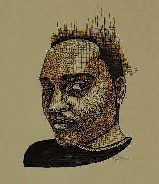 "Pen & Ink Portrait ""Antonio"""