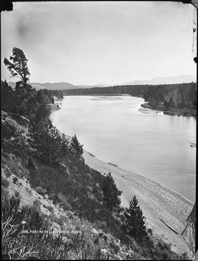 No. 266. YELLOWSTONE RIVER where it leaves the lake, looking north.