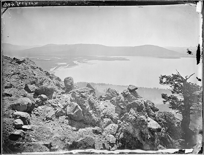 No. 279. YELLOWSTONE LAKE. This southern view includes the Upper Yellowstone River and the bay in which it empties.