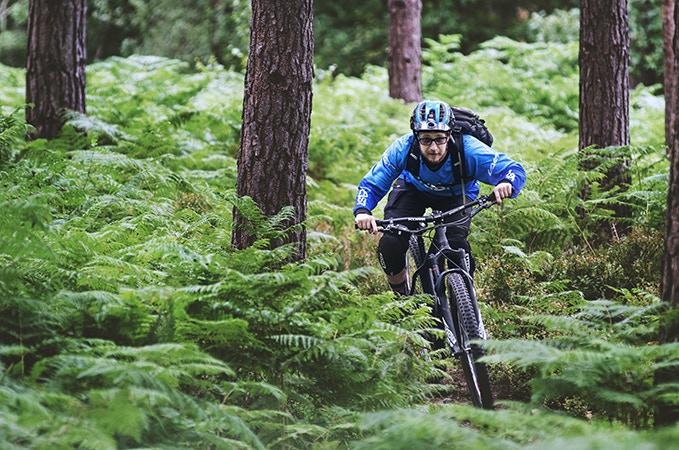Bernd Schachermeier enjoying the trails of Surrey Hills.