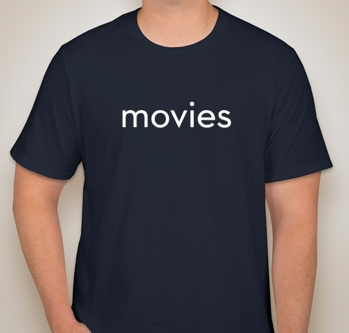 the movies t-shirt (lightweight 100% pre-shrunk cotton)