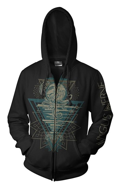 Vagus Nerve Hooded Sweatshirt designed by Gustavo Sazes
