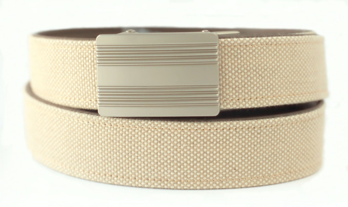 Monterey Silver Nickel with Light Khaki Belt