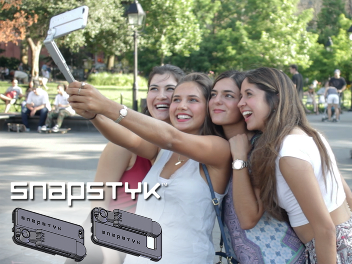 SNAPSTYK™ is a slim, stylish, and durable cell phone case with a built-in Bluetooth enabled selfie stick. #NoMoreBulkySticks ---Pre-order now for up to 30% off, delivered in time for the holidays!
