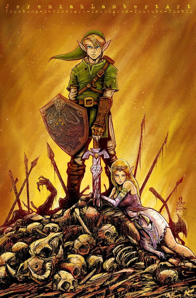 Jeremiah Lambert's Link & Zelda Print