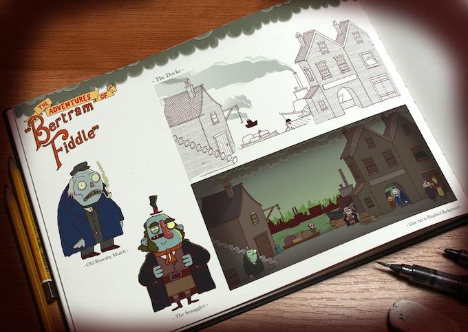 Art of Bertram Fiddle book mock-up