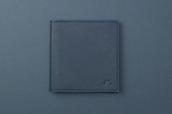 Aki in Blue Full Grain Leather