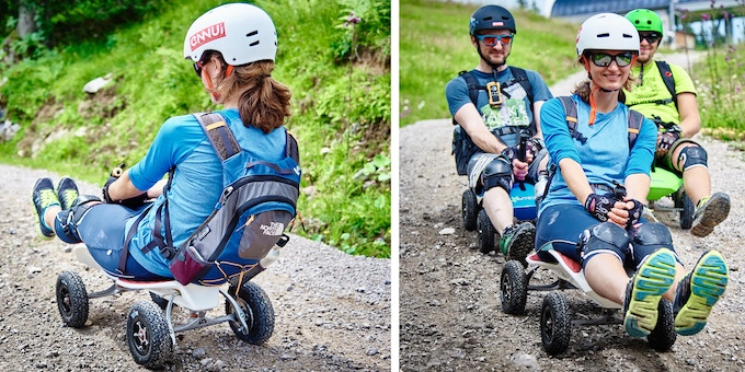 ABFAHREN - MIT FREUNDEN UND FAMILIE - DRIVING DOWNHILL WITH FRIENDS AND FAMILY