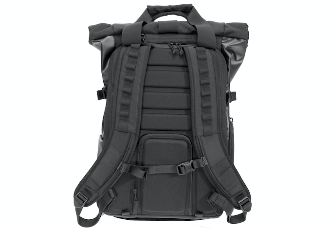 Custom molded back panel and cushioned, breathable shoulder straps for maximum comfort