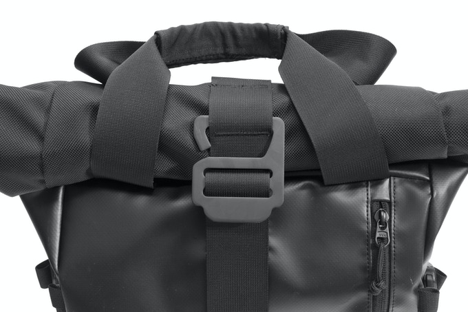 Custom molded, oversized buckle for ease of access and distinct style.