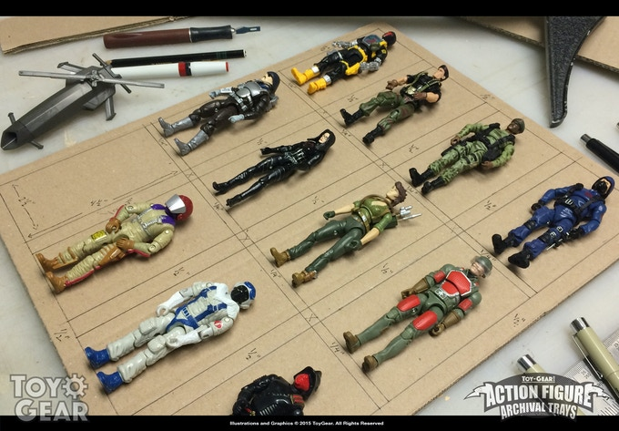 Action Figure Archival Trays - Display and Storage by ToyGear