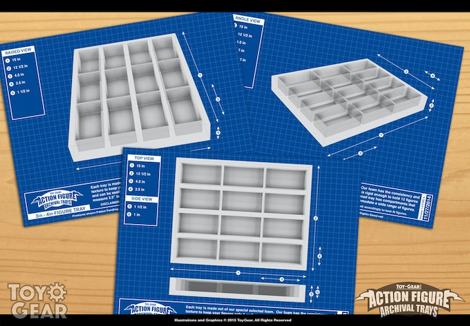 """Blueprint renders of our 4"""" Trays"""