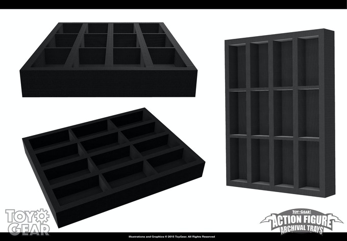 """CAD Renderings of the 4"""" Tray"""