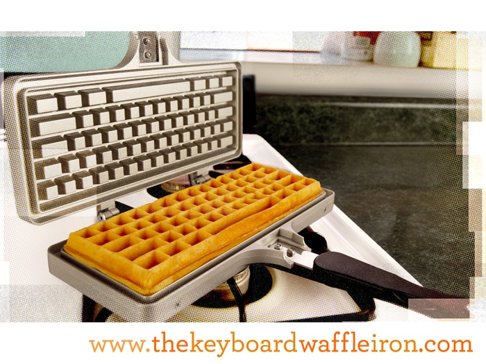 The Keyboard Waffle Iron IS HERE! By popular demand, the internet's dream of keyboard-shaped waffles is now a reality.