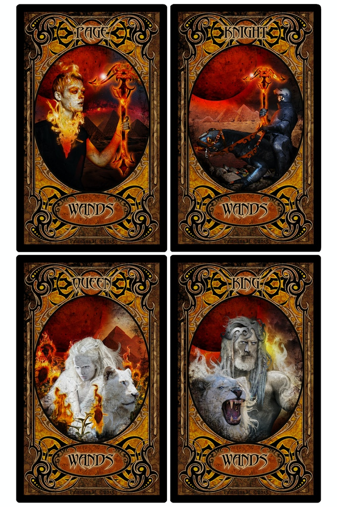 Wands Face Cards