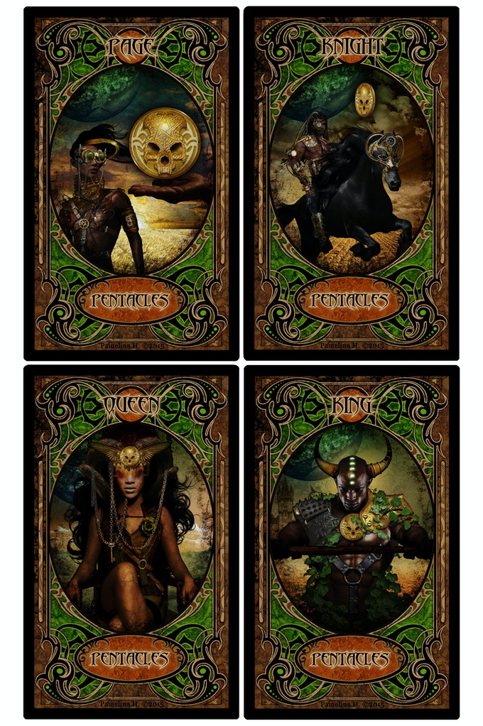 Pentacles Face Cards