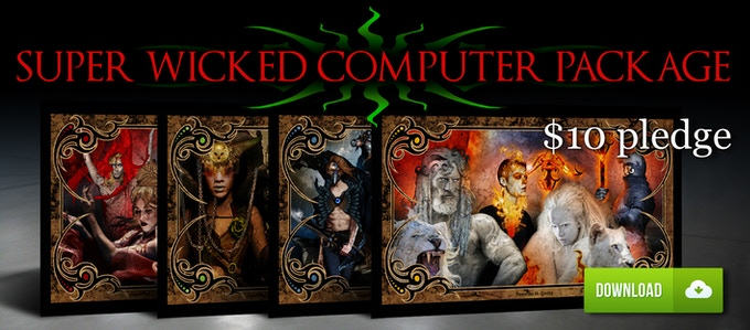 SUPER WICKED COMPUTER PACKAGE ALL 4 WALLPAPERS $10
