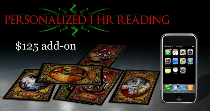 PERSONALIZED 1 HOUR READING BY PHONE ADD-ON!  $125