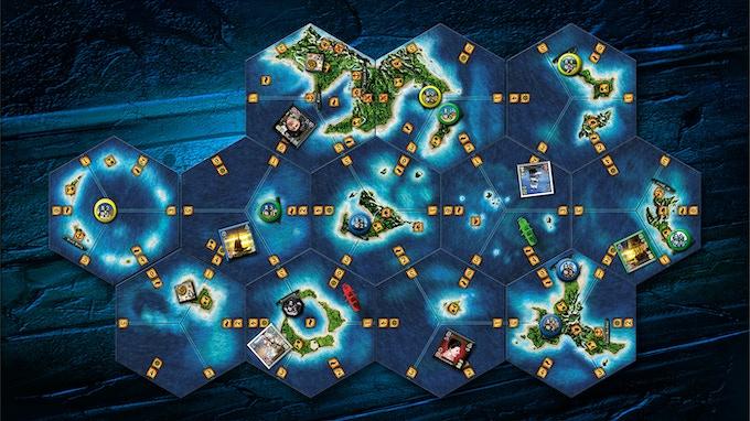 Modular game board.