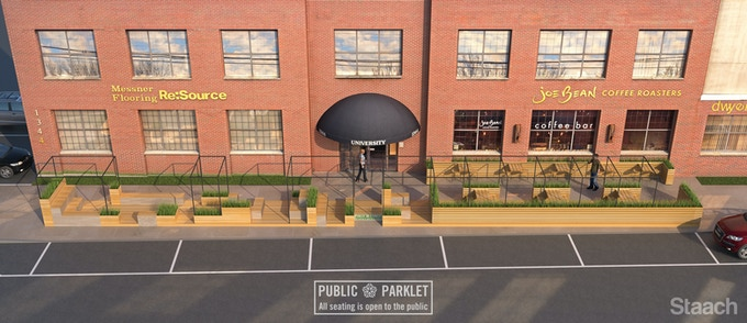 Rochester Parklet Conceptual Rendering