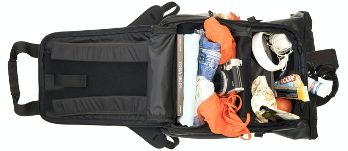 Lay flat packing makes all of your gear accessible when you need it – and this is just one of the main access points on the PRVKE Pack.