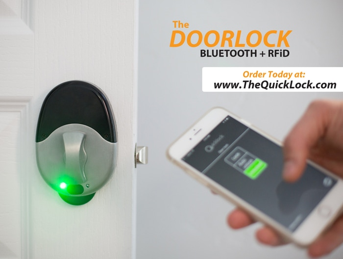 The Quicklock - The World's 1st Bluetooth + RFiD Doorlock. Finally, personal security and privacy for your home or office.