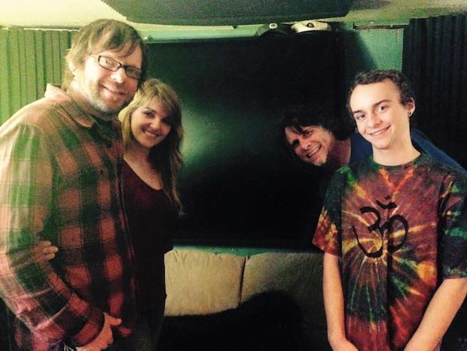 Rob Stroup, Naomi Hooley, Marv Ross and Shea Mackinnon at 8 Ball Studio in Portland May 2015