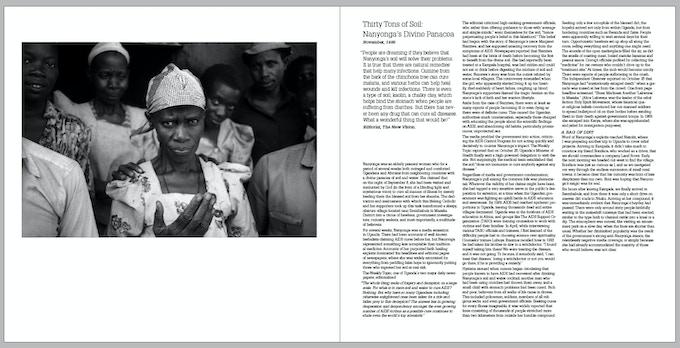 Nanyonga the AIDS faith healer, Uganda