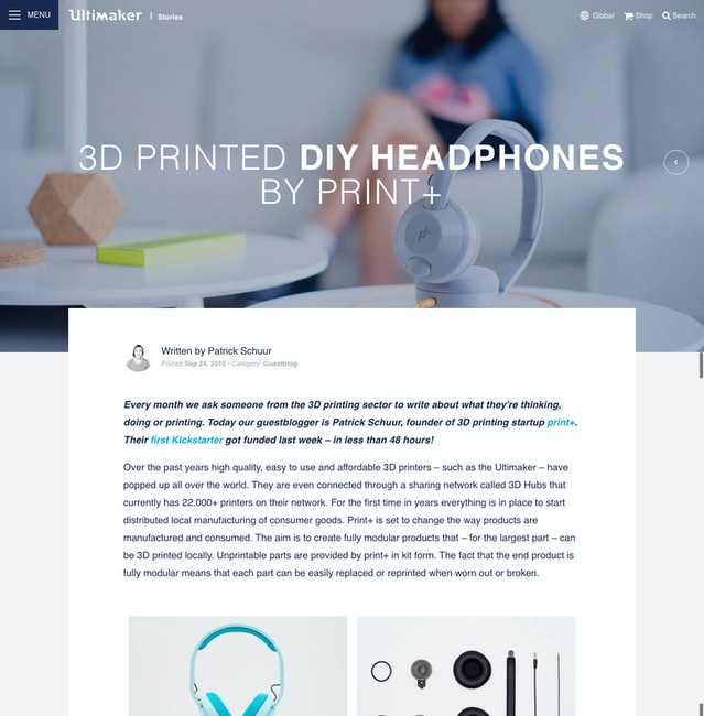 DIY headphone kits by print+ — Kickstarter
