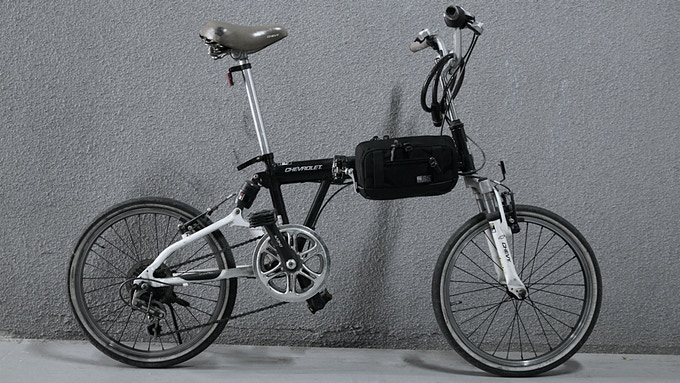 Big Pouch on a bike