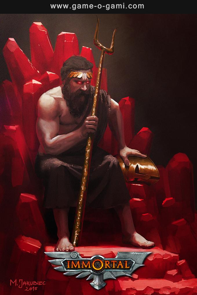"""Hades"" from the Greek pantheon. Illustration by Milek Jakubiec."