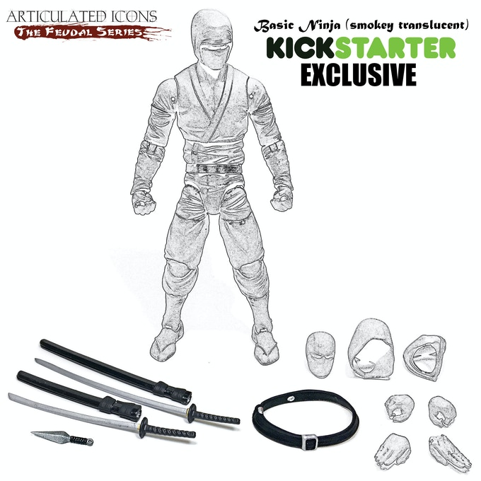 Kickstarter EXCLUSIVE - Basic Ninja (smokey translucent)