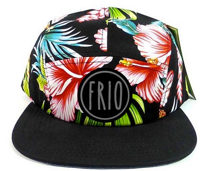 Rock our five panel FRIO floral hat