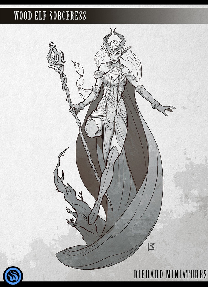 Wood Elf Sorceress - Miniature Coming Soon!