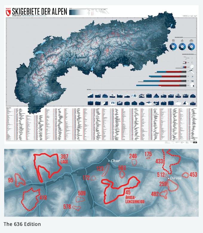 The alps: 636 ski resorts - One map by Lana Bragina & Stefan Spiegel ...