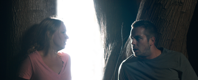 Lance (played by Drew Doyle) and Callie (played by Alyssa Blasak) come to a frightening realization.