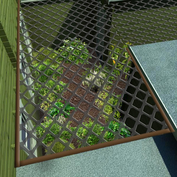 Protected garden for growing vegtables