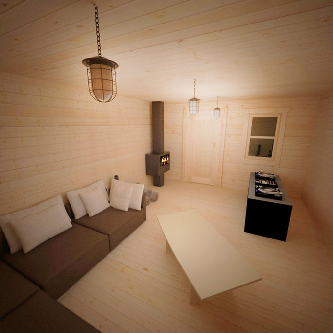 Comfortable living area with music, tv and xbox